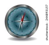 vector compass illustration... | Shutterstock .eps vector #244893157