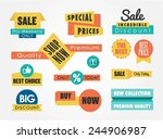 set of sale banners and badges  ... | Shutterstock .eps vector #244906987