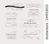 floral design elements vintage...   Shutterstock .eps vector #244923013