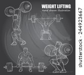 illustration of weight lifting. ... | Shutterstock .eps vector #244923667