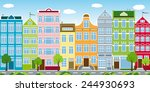 the urban city | Shutterstock .eps vector #244930693
