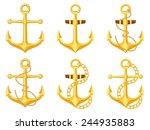 Anchor Set On A White...