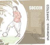 soccer background design. hand... | Shutterstock .eps vector #244937023