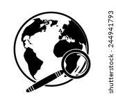vector globe search icon