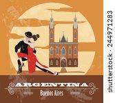 Argentina Landmarks. Retro...