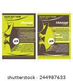 2 massage flyer template | Shutterstock .eps vector #244987633
