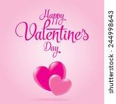 valentines day heart love... | Shutterstock .eps vector #244998643
