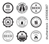 set of vintage craft beer... | Shutterstock .eps vector #245008387