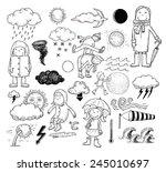 weather elements  vector... | Shutterstock .eps vector #245010697