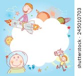 space  banners or bookmarks ... | Shutterstock .eps vector #245010703