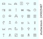 furniture icons  simple and... | Shutterstock .eps vector #245025487