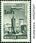 hungary   circa 1966  a stamp... | Shutterstock . vector #245029267