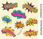 set of comic text  pop art... | Shutterstock .eps vector #245033713