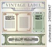 vector vintage border style... | Shutterstock .eps vector #245036947