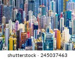 hong kong  china dense... | Shutterstock . vector #245037463