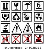 waning of packaging symbol ... | Shutterstock .eps vector #245038393