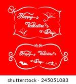 valentine card design red color ... | Shutterstock .eps vector #245051083