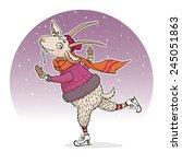 raster illustration of funny... | Shutterstock . vector #245051863