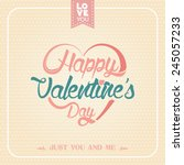 happy valentines day card with... | Shutterstock .eps vector #245057233