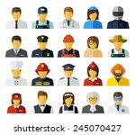 different professions avatars... | Shutterstock . vector #245070427