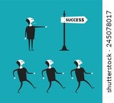 successful teamwork vector... | Shutterstock .eps vector #245078017