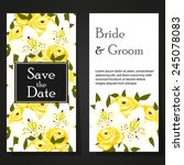 wedding invitation cards with... | Shutterstock .eps vector #245078083