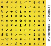 100 beauty salon icons  black... | Shutterstock .eps vector #245088157
