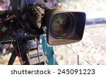 camera  tv broadcast hockey   Shutterstock . vector #245091223