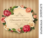 romantic vintage card with... | Shutterstock .eps vector #245091673