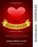 happy valentines day party... | Shutterstock .eps vector #245095633