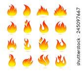 fire campfire bonfire hot flame ... | Shutterstock .eps vector #245097667