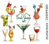 sketch alcoholic beverages... | Shutterstock .eps vector #245099383