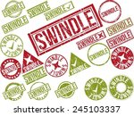 collection of 22 red and green... | Shutterstock .eps vector #245103337
