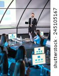 business conference and... | Shutterstock . vector #245105167