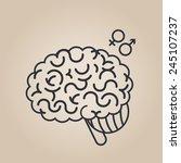 brain concept illustration | Shutterstock .eps vector #245107237