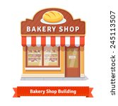 bakery shop building facade... | Shutterstock .eps vector #245113507