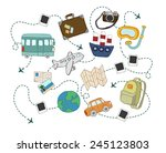 travel and tourism concept.... | Shutterstock .eps vector #245123803