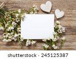 Blank Card Among Chamelaucium...
