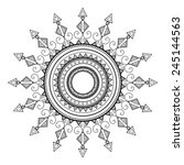 beautiful deco mandala. round... | Shutterstock .eps vector #245144563