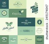 set of flat design icons for... | Shutterstock .eps vector #245174047