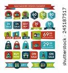 building sale banner flat... | Shutterstock .eps vector #245187517