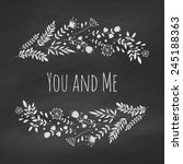 chalk floral frame on the... | Shutterstock .eps vector #245188363