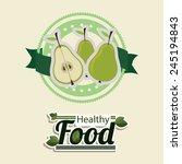 food design over beige... | Shutterstock .eps vector #245194843
