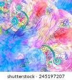 Hand Drawn Abstract Background...