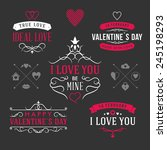 valentine's day set of label ... | Shutterstock .eps vector #245198293