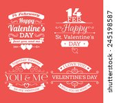 valentine's day set of label ... | Shutterstock .eps vector #245198587