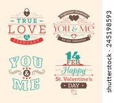 valentine's day set of label ... | Shutterstock .eps vector #245198593