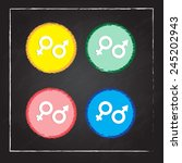 male and female symbols. vector ... | Shutterstock .eps vector #245202943