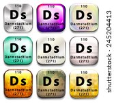 A Periodic Table Button Showin...