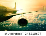 passenger plane flying  over... | Shutterstock . vector #245210677